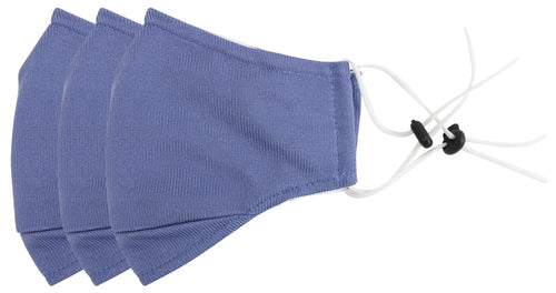 3 Ply Reusable Face Mask, Navy Blue, Large, 3 Pack