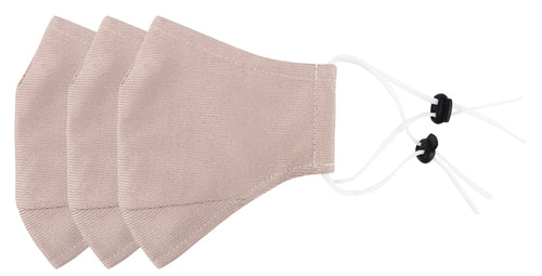 3 Ply Reusable Face Mask, Dusty Pink, Small, 3 Pack