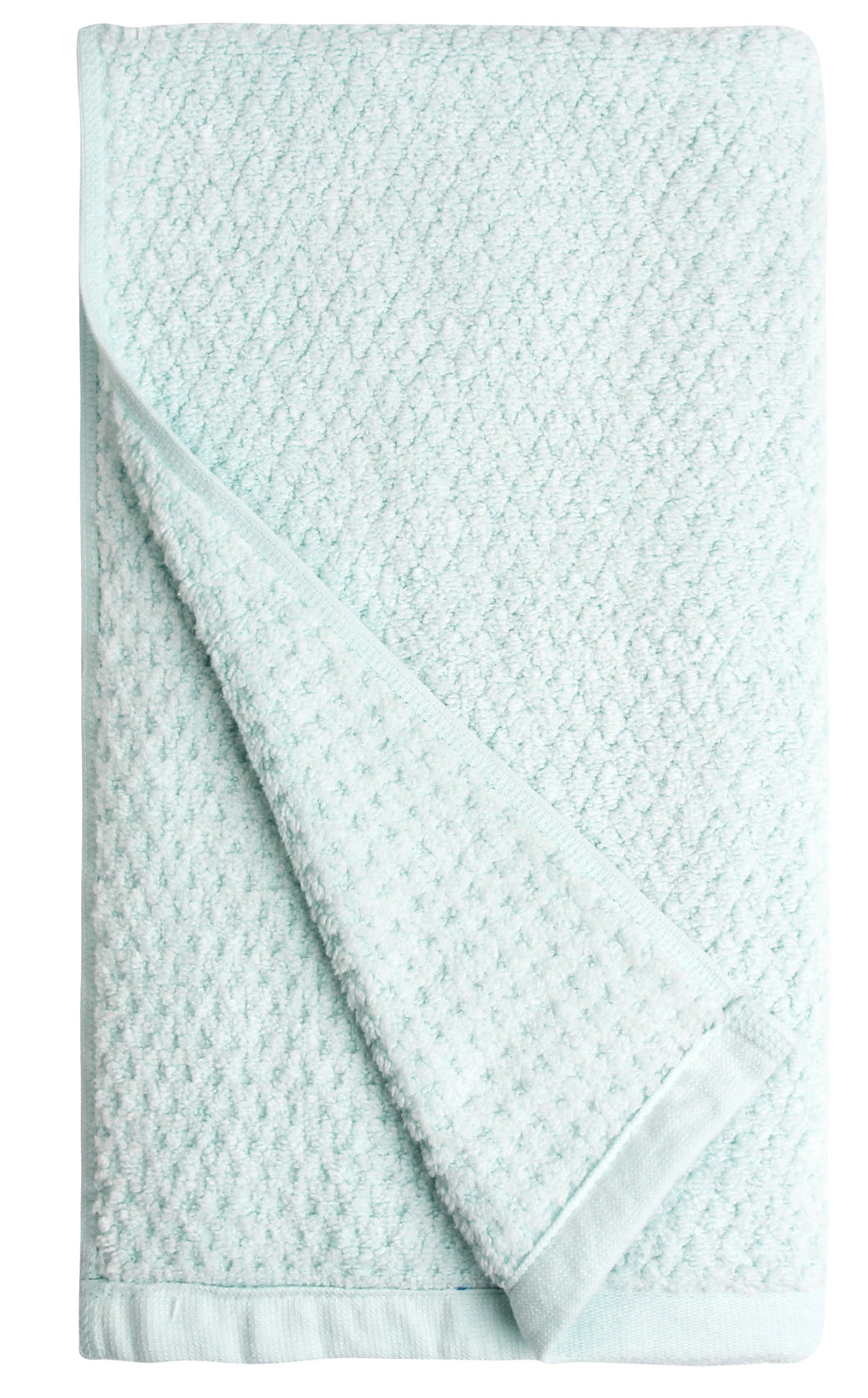 Diamond Jacquard Hand Towels - 4 Pack, Spearmint