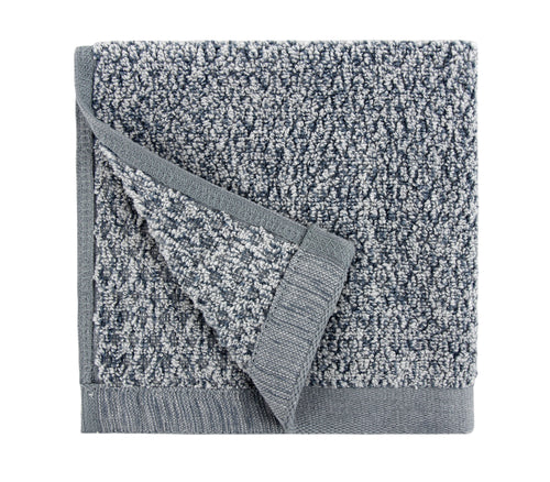 Diamond Jacquard Washcloths - 6 Pack, Dusk (Grey Blue)