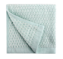 Diamond Jacquard Washcloths - 6 Pack, Spearmint