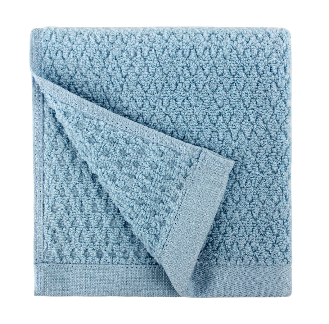 Diamond Jacquard Washcloths - 6 Pack, Aquamarine