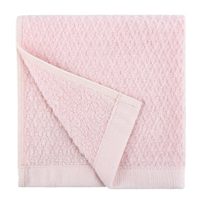 Diamond Jacquard Washcloths - 6 Pack, Pale Pink