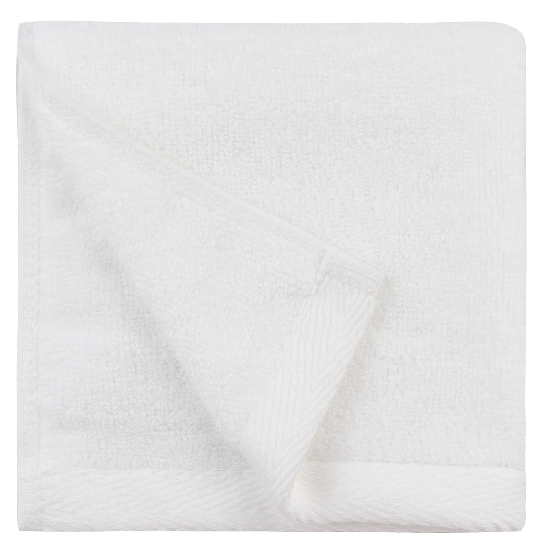 Flat Loop Washcloths - 6 Pack, Porcelain (White)