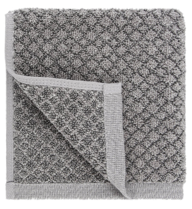 Chip Dye Diamond Jacquard Washcloths - 6 Pack, Granite
