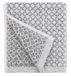 Chip Dye Diamond Jacquard 6 Piece Bath Towel Set, Marble