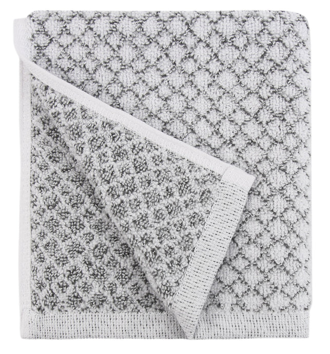 Chip Dye Diamond Jacquard Washcloths - 6 Pack, Marble