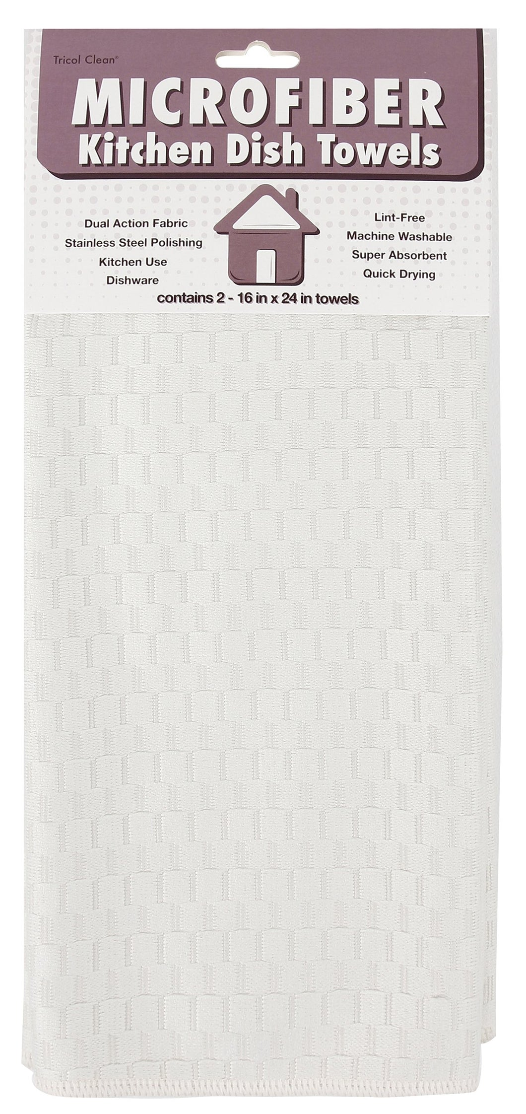 Microfiber Tea Towels, Set of 2, White