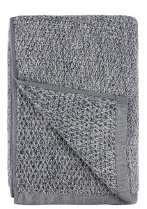 Diamond Jacquard Towels Bath Sheet Towel - 1 Piece, Dusk (Grey Blue)