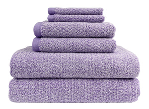 Diamond Jacquard Towels 6 Piece Bath Towel Set, Lavender
