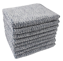 Diamond Jacquard Hand Towels - 4 Pack, Dusk (Grey Blue)
