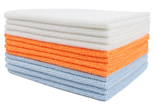 Certified Recycled Microfiber Cleaning Cloths, 12 Pack, 3 Colors