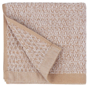 Diamond Jacquard Washcloths - 6 Pack, Khaki (Light Brown)