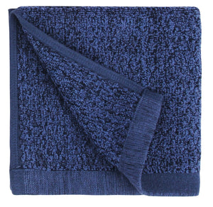Diamond Jacquard Washcloths - 6 Pack, Navy Blue