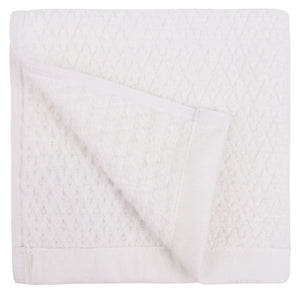 Diamond Jacquard Washcloths - 6 Pack, White