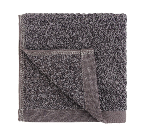 Diamond Jacquard Washcloths - 6 Pack, Charcoal