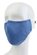 3 Ply Reusable Face Mask, Cerulean Blue, Large, 1 Piece