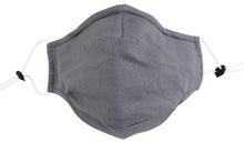 3 Ply Reusable Face Mask, Grey, Large, 3 Pack