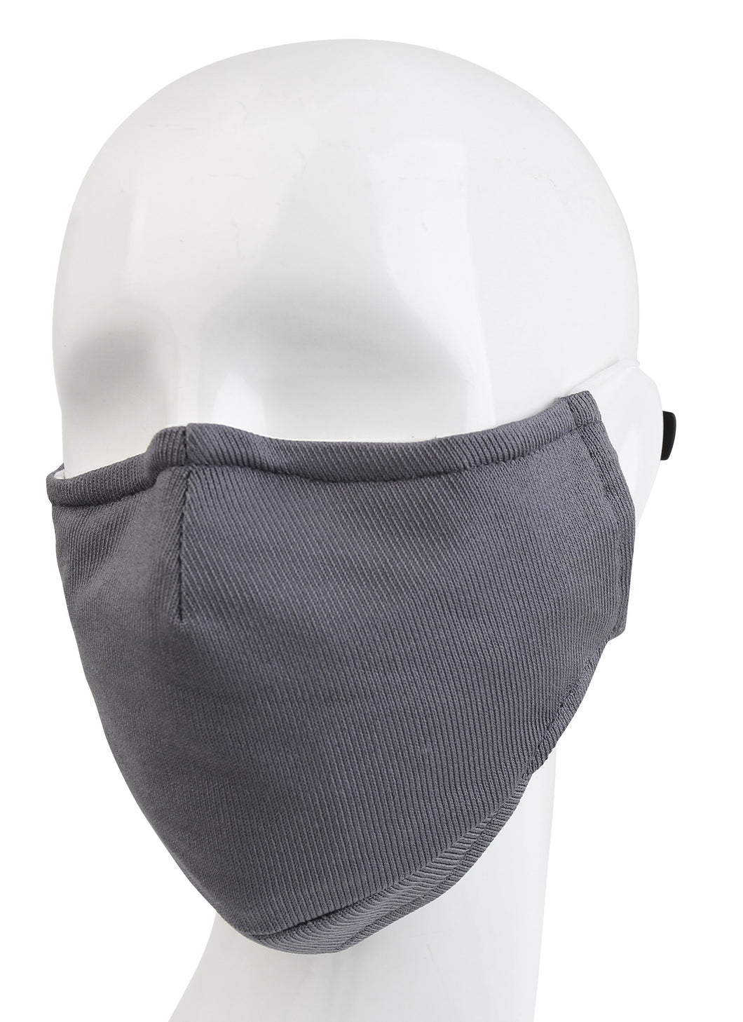 3 Ply Reusable Face Mask, Grey, Large, 1 Piece