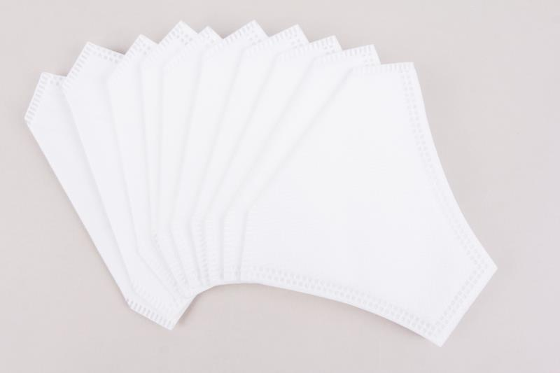 Disposable Filter Inserts for 3 Ply Reusable Masks, 10 PK