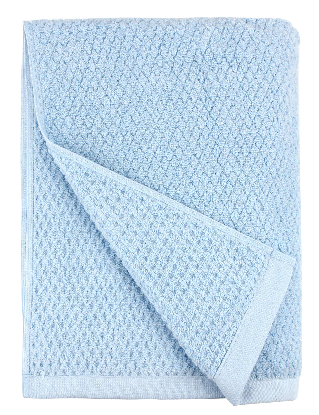 Diamond Jacquard Bath Towel - 1 Piece, Aquamarine