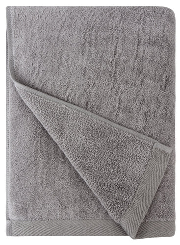 Flat Loop Bath Towel - 1 Piece, Ash (Light Grey)