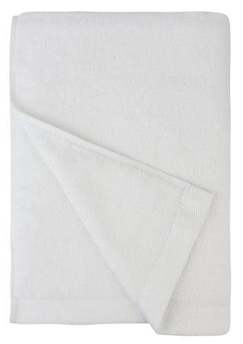 Flat Loop Bath Towel - 1 Piece, Porcelain (White)