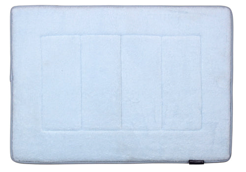 Memory Foam Bath Mat in Sky Blue, 17 x 24 in