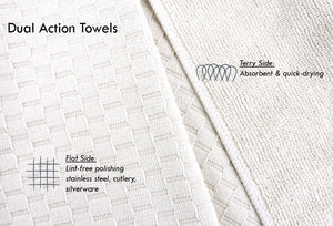 Microfiber Dish Towels, Set of 2, White