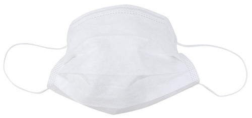 Disposable 3 Ply Face Mask in White, 10 PK (non-medical)