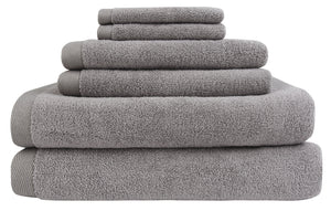 everplush flat loop bath towel set gray