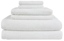 everplush flat loop bath towel set white