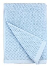 Diamond Jacquard Towels, Bath Sheet - 1 Piece, Aquamarine