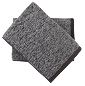 everplush grey bath towel set
