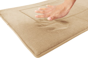 Memory Foam Runner in Tan, 2 x 5 ft