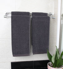 Diamond Jacquard Hand Towels - 4 Pack, Charcoal (Dark Grey)