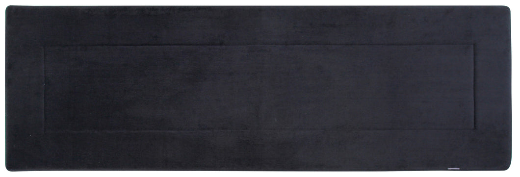 Memory Foam Runner in Black, 2 x 6 ft