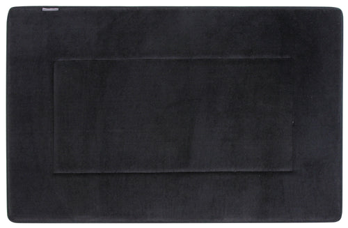 Memory Foam Bath Mat in Black, Large 21 x 34 in