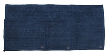 Biospired Homebound Workout Towel with Everplush, Navy Blue Large