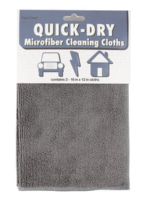 Quick Dry Microfiber Cleaning Cloths, Set of 3
