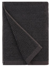 Diamond Jacquard Towels 6 Piece Bath Sheet Towel Set, Charcoal (Dark Grey)