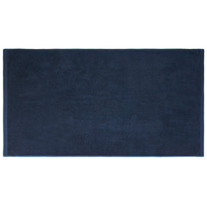 Flat Loop Bath Towel - 1 Piece, Navy Blue