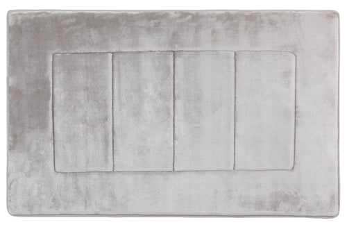 Activated Charcoal Memory Foam Bath Mat in Silver, Large 21 x 34 in