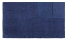 Diamond Jacquard 6 Piece Bath Sheet Towel Set, Navy Blue
