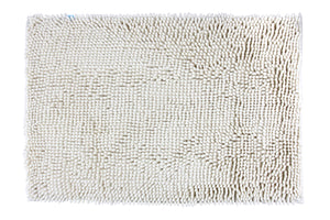 Chenille Accent Rug, 18 x 28 in, Ivory