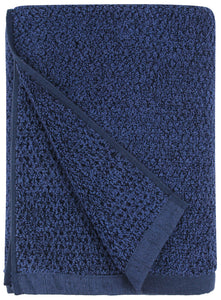 Diamond Jacquard Towels Bath Sheet Towel - 1 Piece, Navy Blue