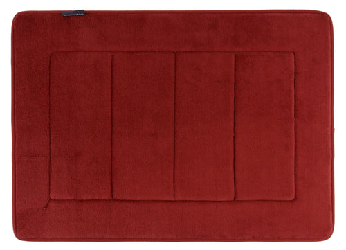 Memory Foam Bath Mat in Marsala Red, 17 x 24 in