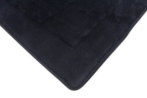 Memory Foam Bath Mat in Black, 17 x 24 in