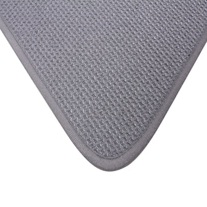 Microfiber Dish Drying Mat by DRI, 2 Sizes, Ash (Grey)