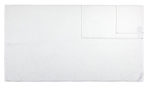 Diamond Jacquard 6 Piece Bath Sheet Towel Set, White